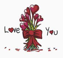 Love You Flowers Kids Tee