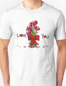 Love You Flowers Unisex T-Shirt