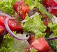 View angle on a fragment of vegetarian salad from fresh vegetables Sticker