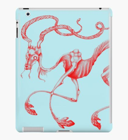 Celestial Elk Blue & Red iPad Case/Skin