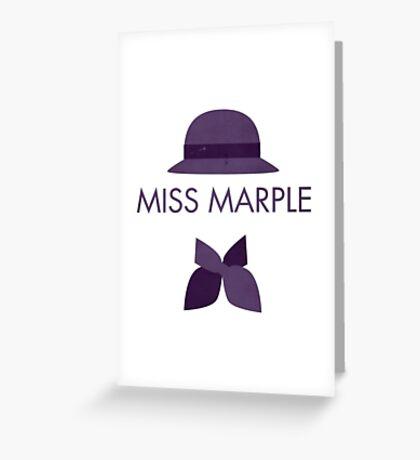 Miss Marple Greeting Card