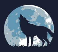 Howling Wolf At Full Moon by MrFaulbaum
