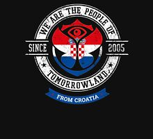 People of Tomorrowland country Flags logo Badge - Croatia - Croatian - Hrvatska - hrvatski Unisex T-Shirt