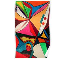 Fruit box Art - geometric abstract no 1 of 4 Poster
