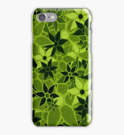 Green Vintage Trendy Floral Pattern iPhone Case/Skin