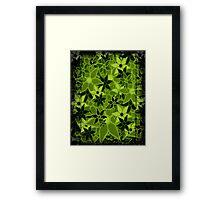 Green Vintage Trendy Floral Pattern Framed Print