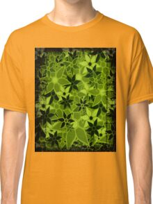 Green Vintage Trendy Floral Pattern Classic T-Shirt