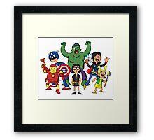 Bob's Avengers Framed Print