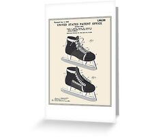 Hockey Skate Patent - Colour Greeting Card