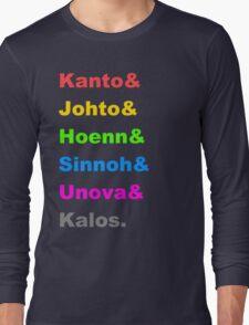 Pokemon Regions Long Sleeve T-Shirt