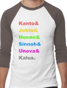 Pokemon Regions Men's Baseball ¾ T-Shirt