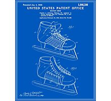 Hockey Skate Patent - Blueprint Photographic Print