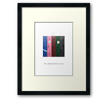 The Breakfast Club Minimalist Art Framed Print
