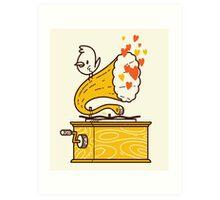 Phonograph and the Bird Art Print