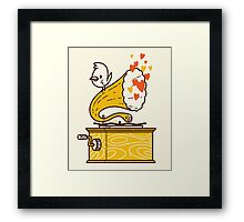 Phonograph and the Bird Framed Print