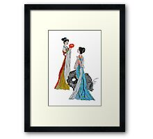 Ancient Chinese ladies Framed Print