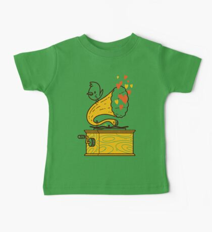 Phonograph and the Bird Baby Tee