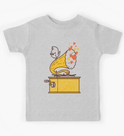 Phonograph and the Bird Kids Tee