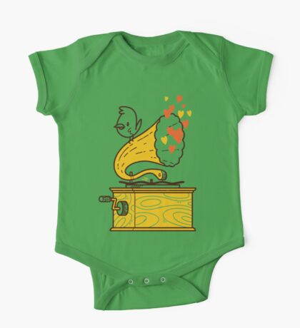 Phonograph and the Bird One Piece - Short Sleeve