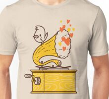Phonograph and the Bird Unisex T-Shirt