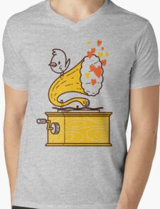 Phonograph and the Bird Mens V-Neck T-Shirt