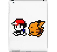 Shiny 8-bit Ash and Pikachu iPad Case/Skin