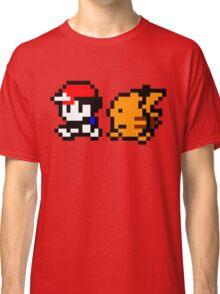 Shiny 8-bit Ash and Pikachu Classic T-Shirt