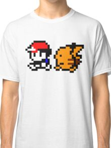 Shiny 8-bit Ash and Pikachu Classic T-Shirt