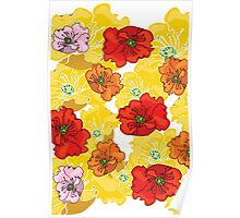 marzipan flowers Poster