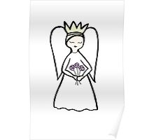 Angel Flowers Poster
