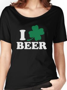 I Clover Beer, St Patricks Day Women's Relaxed Fit T-Shirt
