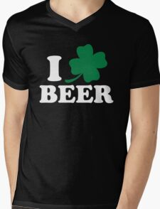 I Clover Beer, St Patricks Day Mens V-Neck T-Shirt
