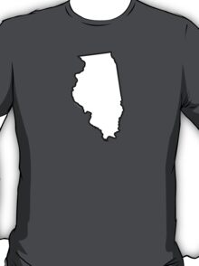 Illinois State Outline T-Shirt