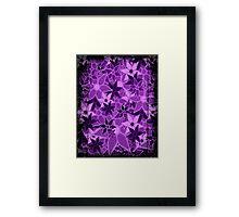 Purple Vintage Trendy Floral Pattern Framed Print
