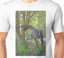 A dinosaur in the park  Unisex T-Shirt