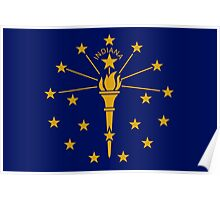 Indiana State Flag  Poster