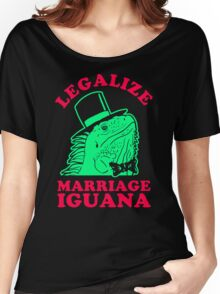 Legalize Marriage Iguana Women's Relaxed Fit T-Shirt