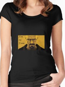Breaking Bad : Walter White Women's Fitted Scoop T-Shirt