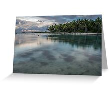 Clear Waters of Aitutaki Greeting Card
