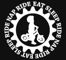 Eat Sleep Ride Nap Ride Repeat One Piece - Short Sleeve