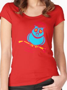Owl Bird Women's Fitted Scoop T-Shirt