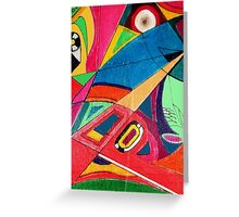 Fruit box Art - geometric abstract no 3 of 4 Greeting Card