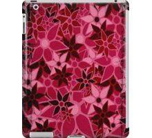 Red Vintage Trendy Floral Pattern iPad Case/Skin