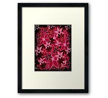 Red Vintage Trendy Floral Pattern Framed Print