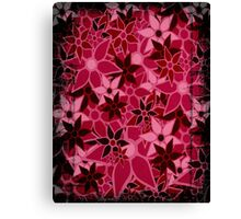 Red Vintage Trendy Floral Pattern Canvas Print