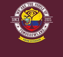 People of Tomorrowland country Flags logo Badge - Republica del Ecuador - ecuatoriano - Ecuadorian - Ecuador- Equateur Unisex T-Shirt