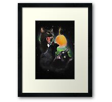 3 Yawning Cats Framed Print