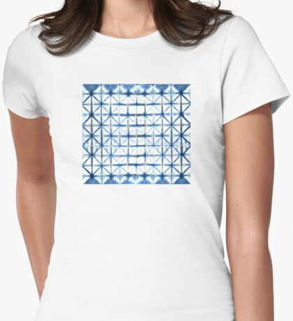 Barbed Wire in Indigo Womens Fitted T-Shirt