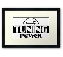 Tuning Power Framed Print