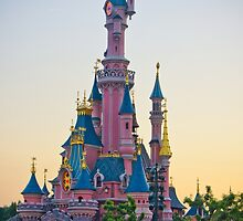 Sleeping Beauty Castle - Sunset (Disneyland Paris) by ThatDisneyLover